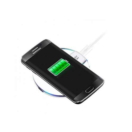 Qi White Wireless Charging Station for iPhone Samsung Smartphone
